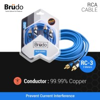 Brudo RC3 Blue Series - Kabel RCA 3 Meter - Germany Technology
