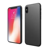 ASENARU iPhone XS Casing - Super Slim Signature Case - Pitch Black