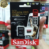 Sandisk 128 GB Extreme Pro 170 mb/s Micro SDXC Card A2 U3 UHS-1 V30