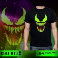 Baju Kaos Superhero Venom Glow In The Dark Import Big Size Jumbo XL-XX