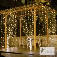 Lampu Tumblr Tirai LED 3x3 meter / Dekorasi Lampu Hias Natal Pesta LED