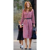Import Putri Kate Middleton Gaun 2019 Wanita Dress V-Leher Lengan