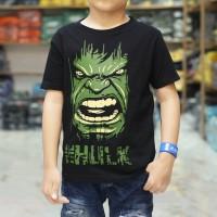 BAJU KAOS ANAK THE HULK HITAM kaos anak superhero bukan azzura