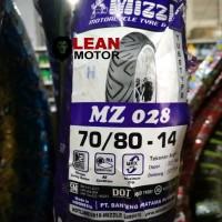 Ban Luar Motor Mizzle MZ 028 Ukuran 70/80-14 Tube Type Matic