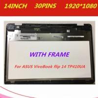 original 14'' For ASUS VivoBook Flip 14 TP410 TP410UA lcd display tou