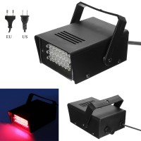 JAP Mini 24LED 3W Red Stage Flashing Light Efek Lampu Strobo DJ