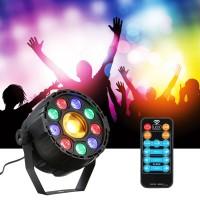 JAP 15W 10 LED Strobe Par Lampu RGB Kuning DMX Suara Remote