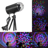 JAP 3W RGB Tahap Cahaya Lampu Kristal LED Berputar Disco Voice