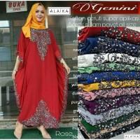Dress Gamis Kaftan Gemini Murah Bahan Ceruti Super HQ