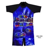 Baju Renang Diving Anak Usia 3-7 th Karakter Tayo BRDLTKK082 - M,Hitam