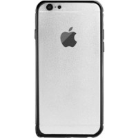 ibacks Arc-shaped Damascus Bumper for iphone 6 Gold Edge - Hitam