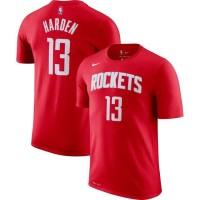Tshirt Kaos Baju Basket NBA Houston Rockets No 13 James Harden MERAH