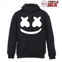 Jaket Hoodie DJ - Marshmello Smile - Hitam