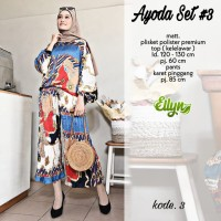 Baju setelan wanita muslim Kulot dan Blouse Ayoda Set #3