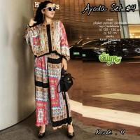 Baju setelan wanita muslim Kulot dan Blouse Ayoda Set #4