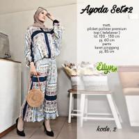 Baju setelan wanita muslim Kulot dan Blouse Ayoda Set #2