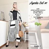Baju setelan wanita muslim Kulot dan Blouse Ayoda Set #1