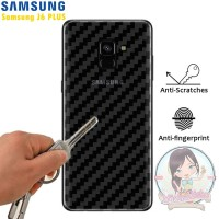 Garskin Carbon Samsung J6 Plus Skin Back 3D Anti Gores Belakang