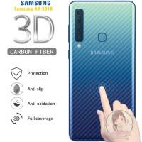 Garskin Carbon Samsung A9 2018 Skin Back 3D Anti Gores Belakang