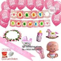 Paket Dekorasi Balon Mom To Be / Baby Shower GIRL