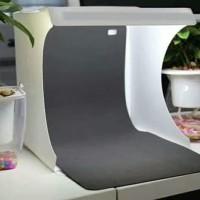 Mini Photo Studio Product Kit dengan LED dan Background Warna