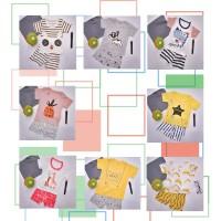 [ Free Ongkir ] 2 Pcs / Set Baju Anak Lengan Pendek Style Musim Panas