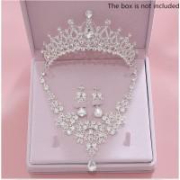 set perhiasan pengantin kalung anting pesta
