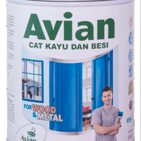 CAT BESI / CAT KAYU / CAT MINYAK / SUPER GLOSS/DOFF AVIAN HITAM PUTIH