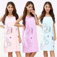 Baju Handuk Wearable Towel Kimono Karakter Renang Mandi Multi Fungsi