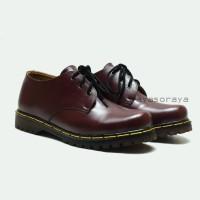 Sepatu Low Boots Docmart Dr Martens 3 hole / lubang - Kulit - Murah