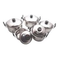 NJC Kingko 555 Panci Stainless Steel Susun 5 - Perak