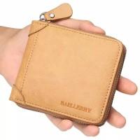 Baellerry 9250 – Dompet Lipat Pria Resleting – Bahan Kulit