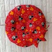 baby lounger/sofa duduk bayi plus bantal mahkota motif Mickey mouse
