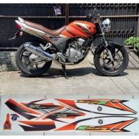 Stiker Cutting Yamaha - Striping Scorpio Z Orange 2005