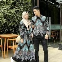 Baju dress gamis jumbo ld: 120 sarimbit batik katun couple kemeja pria