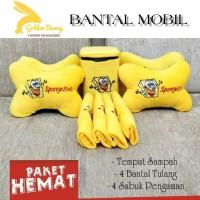 PAHE 9 PCS BANTAL MOBIL SPONGEBOB / TEMPAT SAMPAH MOBIL