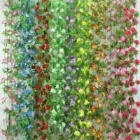 Bunga plastik artificial daun rambat bunga/bunga plastik daun juntai
