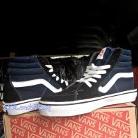 sepatu/sepatu tinggi vans/sepatu vans biru dongker tinggi