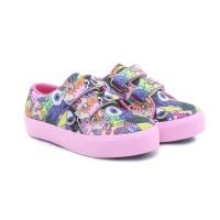 TEXFX sepatu anak sekolah vans sneakers/kets anak perempuan cewe modis