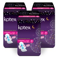 Kotex Overnight PAG 28 cm 14s 3 Pack