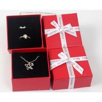kotak cincin kalung gelang anting perhiasan gift box import