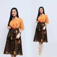 Baju Batik Bruklat Mix Katun Primis Satu set Atasan dan Bawah