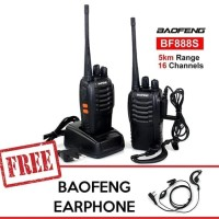 BAOFENG BF-888 S UHF BONUS EARPHONE - RADIO HANDY TALKIE / HT BF 888S