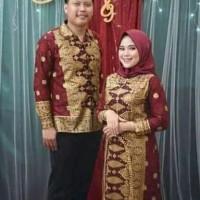 baju batik songket suji palembang couple