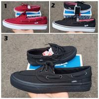 Sepatu Vans Zapato Red / Black White / Full Black