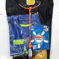 RS Metric Power 15 NEX Free TAS SENAR KAOS Raket Badminton Bulutangkis