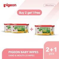 PIGEON Hand and Mouth Wet Tissue 20's - Buy 2 Get 1 | Tisu Basah Bayi