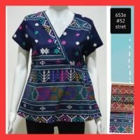 Blouse Batik Wanita Atasan Batik Cewek Kerja Modern Kasual