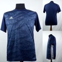 Baju Kaos Sepak Bola/Futsal Dri-Fit Print Dewasa Adidas Navy
