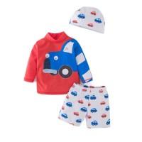BAJU RENANG ANAK BAYI COWOK / RED BLUE CAR BABY BOY SWIMSUIT